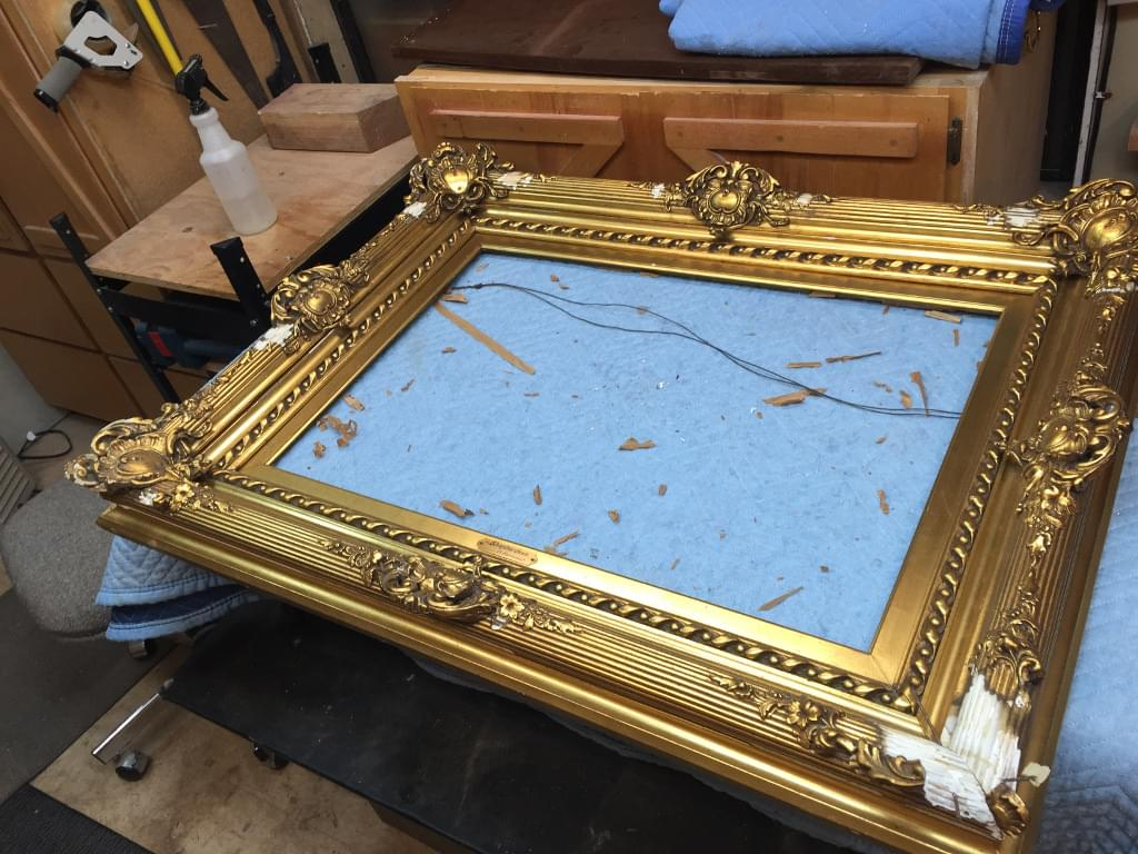 damaged picture frame
